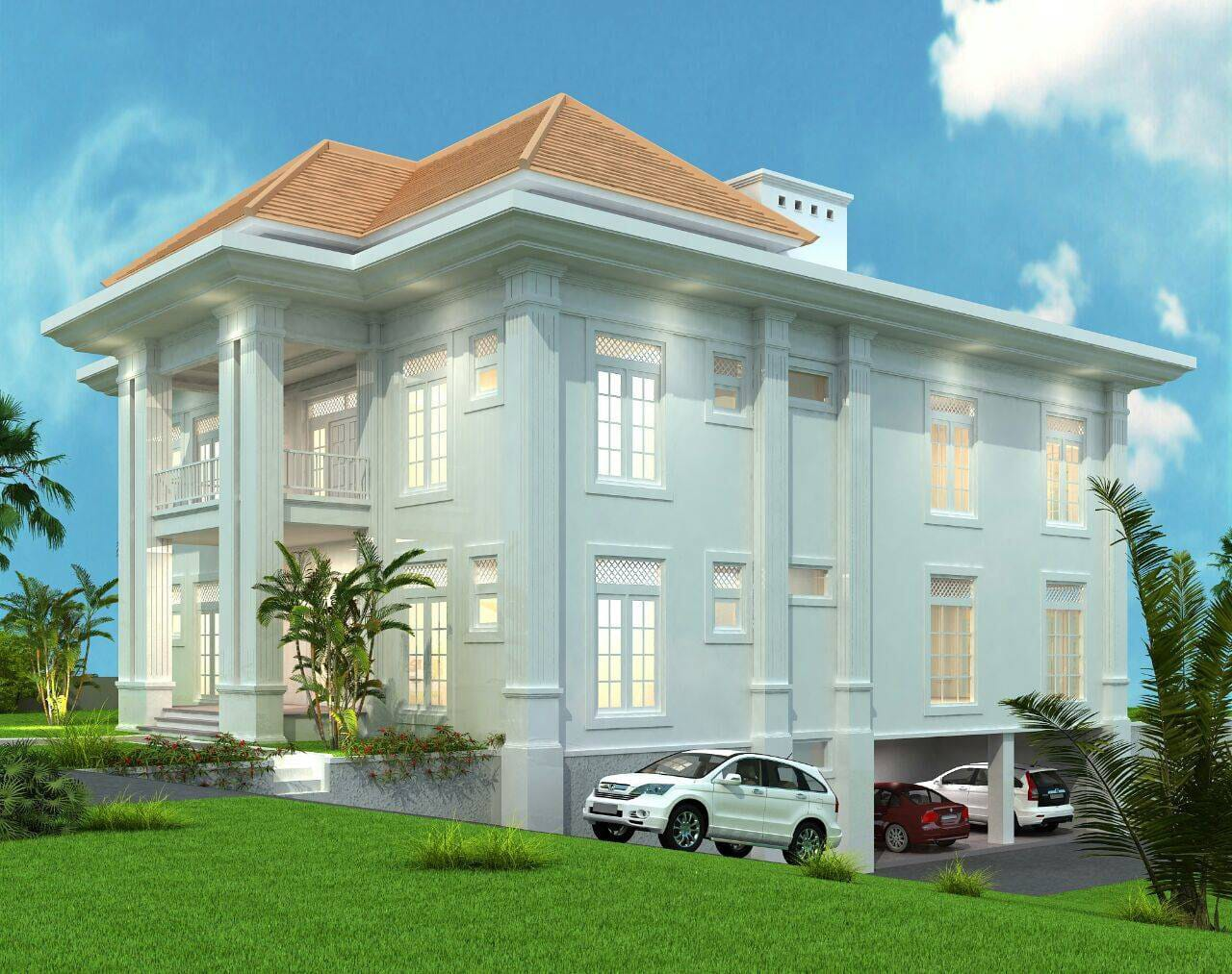 Sea View Brand New Impressive Colonial Style Villa In Padang Galak Sanur